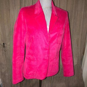 Barneys Co-op Hot pink velvet blazer jacket L